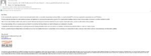 Email to TFL Sexual Statistics